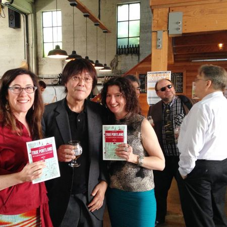 <p>Left to right: Rhonda Hughes, Teruo Kurosaki, Liz Crain. Right before the party started. Kanpai!</p>