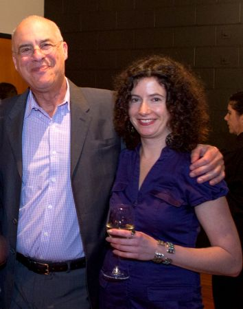 <p>Liz Crain and Mark Bittman at the Portland fundraiser dinner last week for the James Beard Public Market. Photo by <a href=